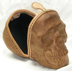 Full size leather skull 3 by GriffinLeather