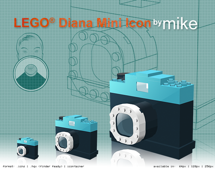 Lego-style Diana Mini Icons by mook73