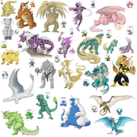 Pokemon Fusions by RaptorBarry