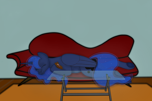 Sleeping Luna by The-Fox-Experiment