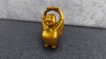 Standing Golden Laughing Buddha by Akhdanhyder
