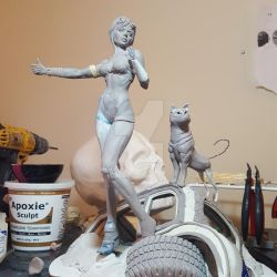 Vixens of the Wasteland:  A Girl and Her Dog, WIP by seankylestudios