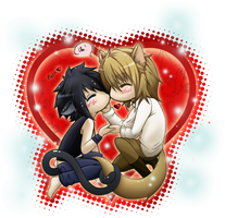 Cat and Dog Love by Tenshi--no--yume