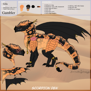 Gila ref (The-ScorpionDen App) by ForbiddenDreaming