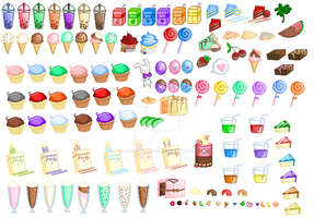 Shop-Pixel Food Sheet2 by Buried-Above-Love