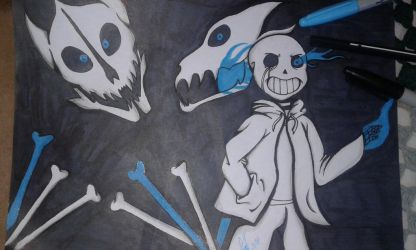 Sans (traditional drawing) by cuersiul