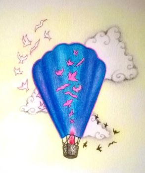 Pink balloon is on it's way by Bonniemarie
