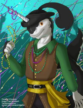 [Commission] Narwhal Mardi Gras by Ulario