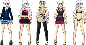 New Ilya Outfit Lineup by Lyra-Elante
