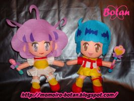 chibi Yu and Creamy plush version by Momoiro-Botan
