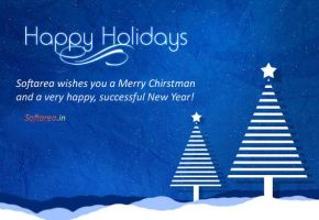 Happy Holidays Greeting Card (PSD) by softarea
