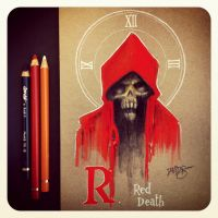 R is for Red Death by Disezno