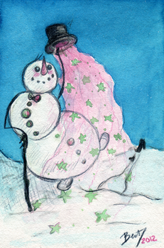 Snowman by the-tea-zombie