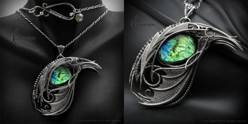 ERGONTH DRACO - Silver and Labradorite by LUNARIEEN