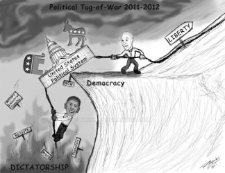 Political Tug-of-War 2011-2012 by rwcombs