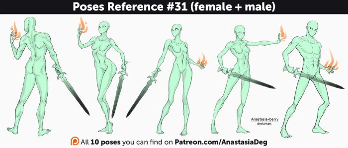 Poses Reference #31 (female + male) by Anastasia-berry