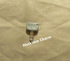Hammer Necklace Charm by BowCrazyHeroGirl