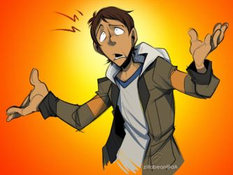 Lance scribble by zillabean
