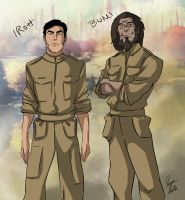 skak45 Request - Iroh and Bumi (Battle dress) by ofpink