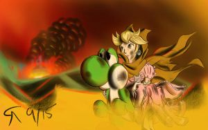 Escape from Mushroom Kingdom by A4ArtStuff