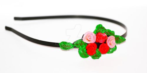 HEADBAND with roses by cherryka2323