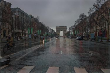 Paris the city of lights - dull day on the champs by Rikitza