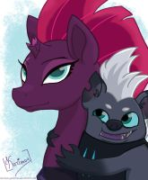 Tempest Shadow and Grubber by Karimus-Galaktion