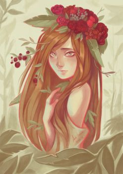 -Flower Crown- by Zaiisey