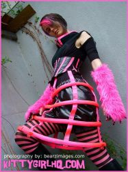 cyber pink bird cage skirt by zfjADE