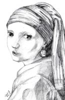 Vermeer - Girl with the Pearl Earring by RearRabbit