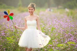 Girl in a lavender field by caenerys