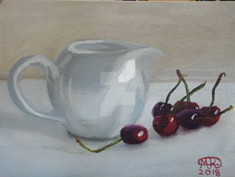 Pitcher and Cherries by MarieRiver