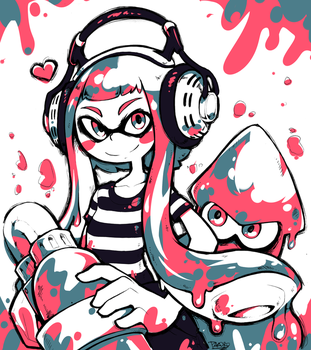 Splatoon fanart by Parororo