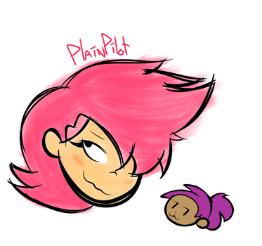 Red Action and Enid (Doodle) by PlainPilot