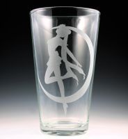 Sailor Moon Pint Glass by Yukizeal