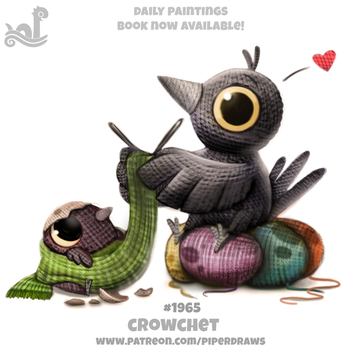 Daily Paint 1965# Crowchet by Cryptid-Creations