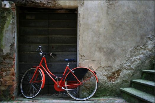old town old bicycle by Redzee