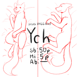 Hug Pillow YCH [CLOSED] by Pafoiz
