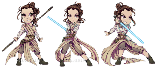 Chibi Rey in action by ibahibut