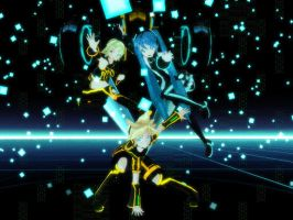 Tron kagamine dl by Animaniacanimemaster