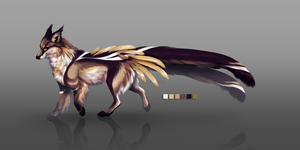 Silhouette Fox - Character Design Auction by kavlri