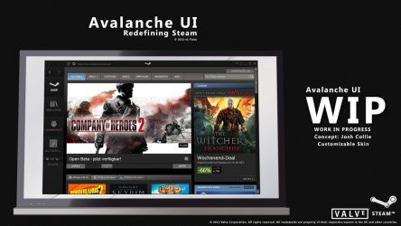 Avalanche UI Steam Skin *CANCELED* by eL-Falso