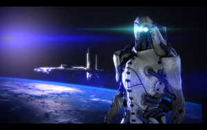My Mass Effect 1 character by Cebius