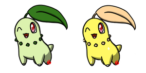 Pokemon #152 - Chikorita by Fyreglyphs