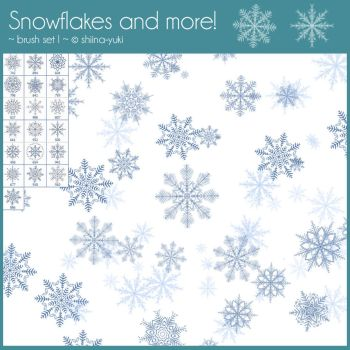 Brush Set I - Snowflakes and more! by Shiina-Yuki