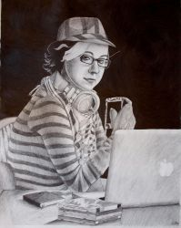 Hipster Bacchus by ChiffonSigh