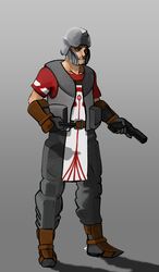 Holy Nation Missionary concept art by justinpyne