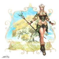 High elven female magician by reaper78