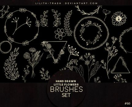 Hand Drawn Little Flowers Brushes #60 by Lilith-Trash