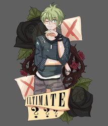 Danganronpa Drawlloween: 4# Rantaro Amami by Trash-Muffin